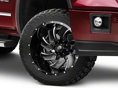 Fuel Wheels Cleaver Black Milled 6-Lug Wheel - 22x14 (07-18 Sierra 1500)