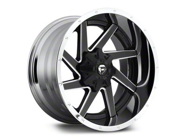 Fuel Wheels Renegade Black Milled w/ Chrome 6-Lug Wheel - 22x10 (07-18 Sierra 1500)