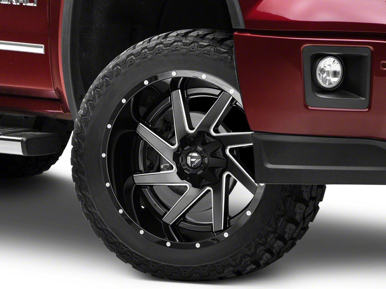 Fuel Wheels Renegade Black Milled 6-Lug Wheel - 22x12 (07-18 Sierra 1500)