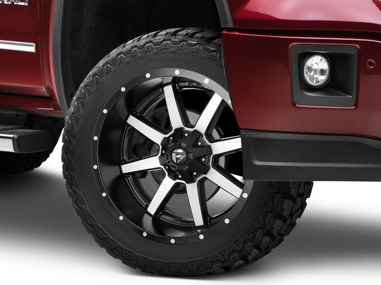 Fuel Wheels Maverick Black Machined 6-Lug Wheel - 22x10 (07-18 Sierra 1500)