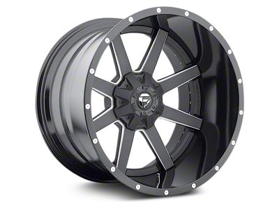 Fuel Wheels Maverick Black Milled 6-Lug Wheel - 22x14 (07-18 Sierra 1500)