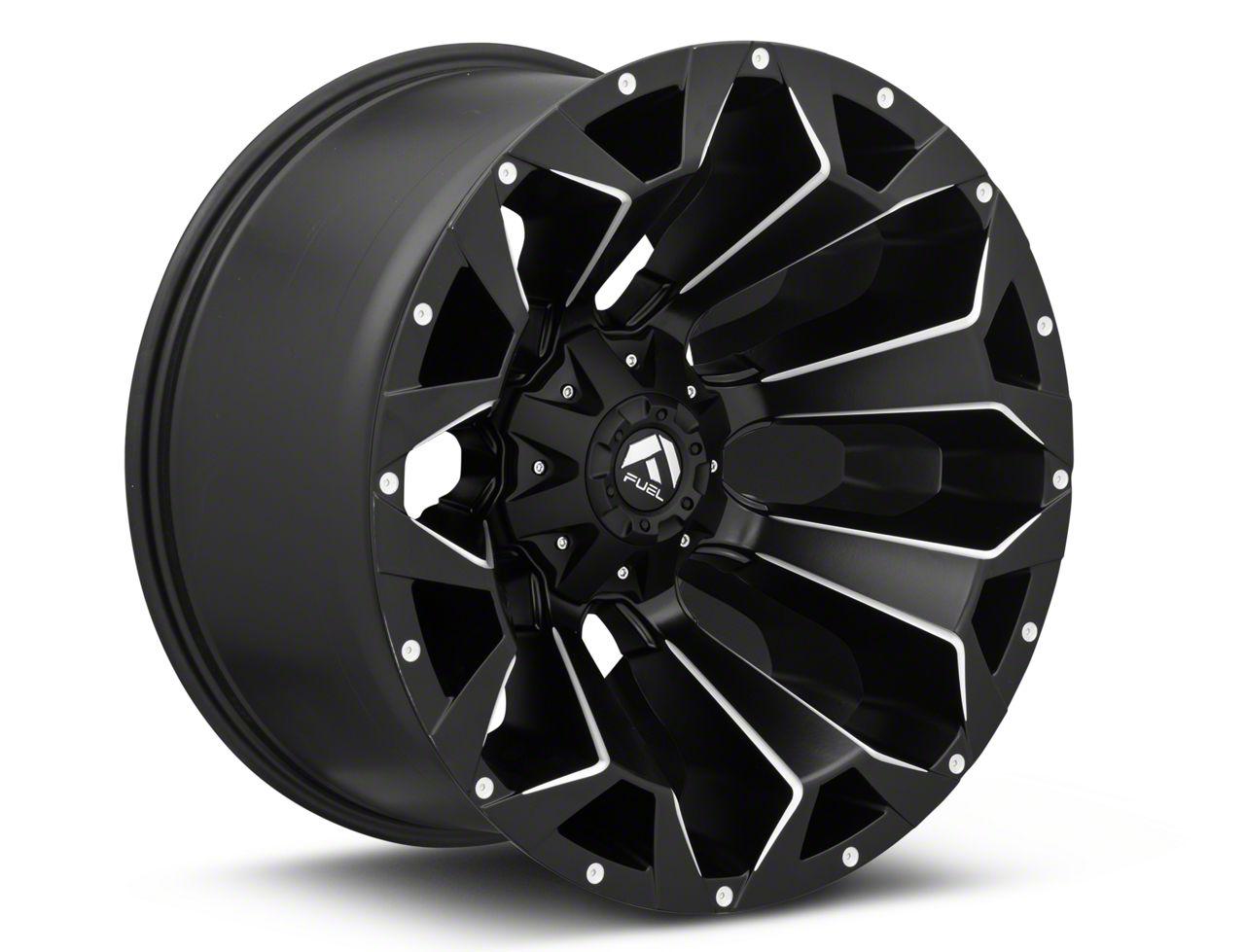 Fuel Wheels Assault Black Miled 6-Lug Wheel - 22x12 (07-18 Sierra 1500)