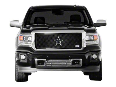 RBP RL Series Smooth Frame Upper Grille Insert - Black (14-15 Sierra 1500, Excluding All-Terrain Package)