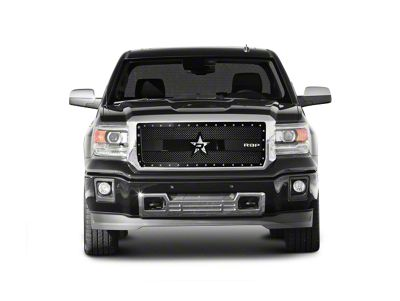 RBP RX-3 Series Studded Frame Upper Grille Insert - Black (14-15 Sierra 1500, Excluding All-Terrain Package)