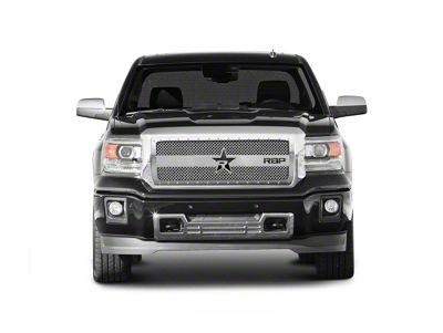 RBP RX-3 Series Studded Frame Upper Grille Insert - Chrome (14-15 Sierra 1500, Excluding All-Terrain Package)