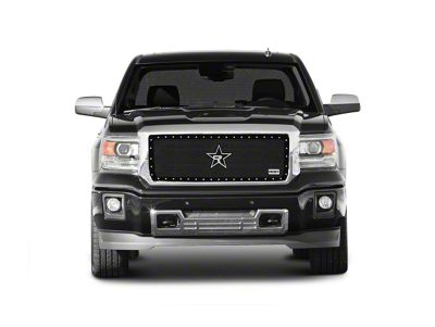 RBP RX-5 HALO Series Studded Frame Upper Grille Insert - Black (14-15 Sierra 1500, Excluding All-Terrain Package)