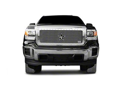 RBP RX-5 HALO Series Studded Frame Upper Grille Insert - Chrome (16-18 Sierra 1500, Excluding All-Terrain Package)