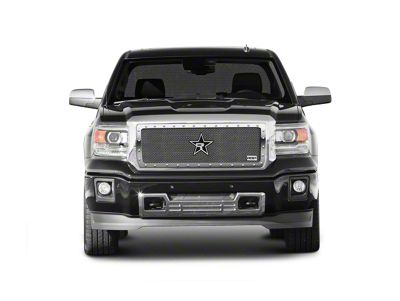 RBP RX-5 HALO Series Studded Frame Upper Grille Insert - Chrome (14-15 Sierra 1500, Excluding All-Terrain Package)