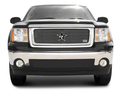 RBP RX-5 HALO Series Studded Frame Upper Grille Insert - Chrome (07-13 Sierra 1500, Excluding All-Terrain Package)