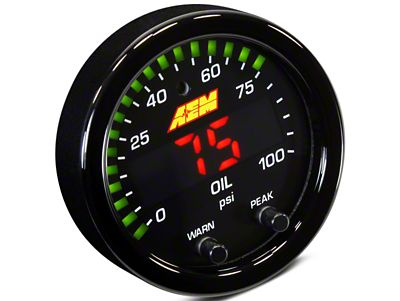 AEM Electronics X-Series Oil Pressure Gauge - Electrical (07-18 Sierra 1500)