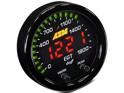 AEM Electronics X-Series Exhaust Temperature Gauge - Electrical (07-18 Sierra 1500)