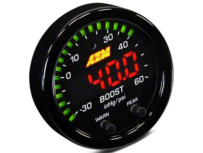 AEM Electronics X-Series Boost Pressure Gauge - Electrical (07-18 Sierra 1500)