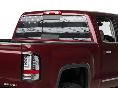 Perforated Distressed Flag Rear Window Decal (07-19 Sierra 1500)
