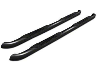Black Horse Off Road 3 in. Round Side Step Bars - Black (14-18 Sierra 1500)