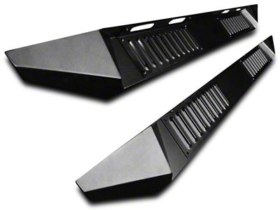 Black Horse Off Road Armour Running Boards - Black (07-13 Sierra 1500 Crew Cab)