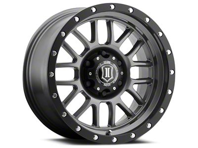 ICON Vehicle Dynamics Alpha Gunmetal 6-Lug Wheel - 17x8.5 (07-18 Sierra 1500)