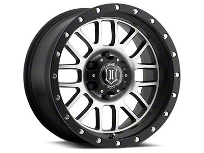 ICON Vehicle Dynamics Alpha Satin Black Machined 6-Lug Wheel - 17x8.5 (07-18 Sierra 1500)