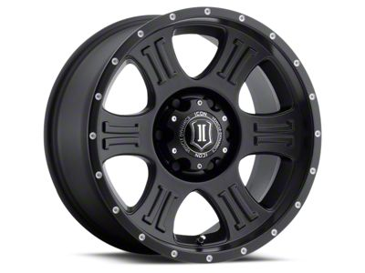 ICON Vehicle Dynamics Shield Satin Black 6-Lug Wheel - 17x8.5 (07-18 Sierra 1500)