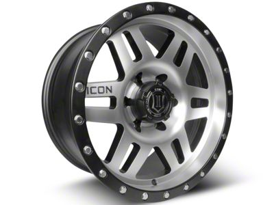 ICON Vehicle Dynamics Six Speed Satin Black Machined 6-Lug Wheel - 17x8.5 (07-18 Sierra 1500)
