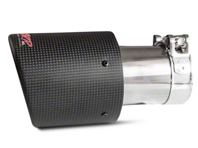 MBRP 4 in. Exhaust Tip - Carbon Fiber - 3 in. Connection (07-18 Sierra 1500)