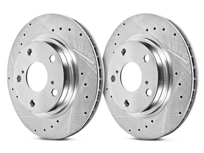 Power Stop Evolution Cross-Drilled & Slotted Rotors - Rear Pair (07-13 Sierra 1500 w/ Rear Disc Brakes; 14-18 Sierra 1500)
