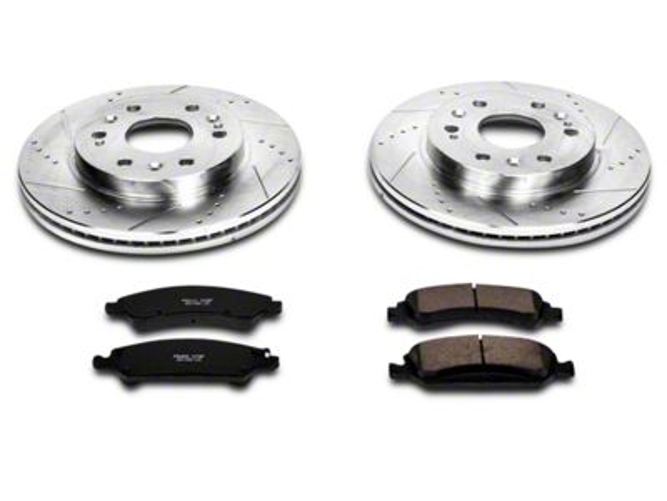 Power Stop Z23 Evolution Sport Ceramic Brake Pads and Rotor Kit - Front Pair (07-18 Sierra 1500)
