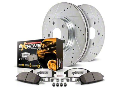Power Stop Z36 Extreme Truck & Tow Brake Rotor & Pad Kit - Front & Rear (14-18 Sierra 1500)