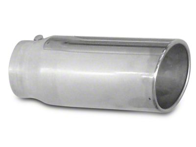Pypes 5 in. Rolled Angled Cut Exhaust Tip - Polished Stainless - 2.5 in. Connection (07-18 Sierra 1500)