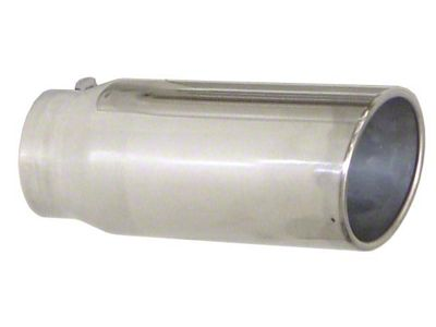 Pypes 5 in. Rolled Angled Cut Exhaust Tip - Polished Stainless - 3.0 in. Connection (07-18 Sierra 1500)