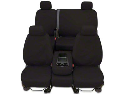 Covercraft Seat Saver Front Seat Covers - Charcoal (07-13 Sierra 1500 w/ Bench Seat)