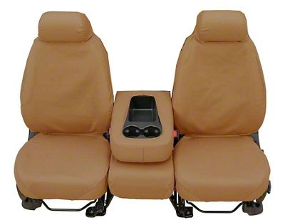 Covercraft SeatSaver Front Seat Covers - Tan (07-13 Sierra 1500 w/ Bench Seat)