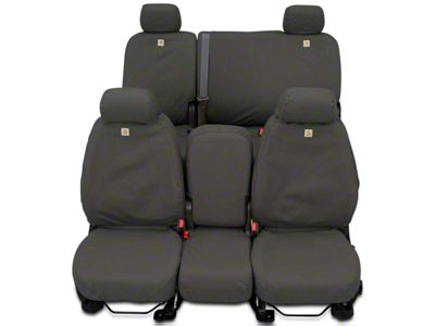 Covercraft Carhartt Seat Saver 2nd Row Seat Cover - Gravel (14-18 Sierra 1500 Double Cab, Crew Cab)