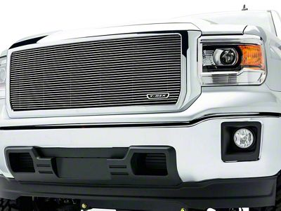 T-REX Billet Series Upper Grille Insert - Polished (14-15 Sierra 1500, Excluding Denali)