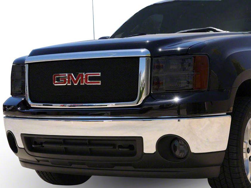 T-REX Sport Series Upper Overlay Mesh Grille w/ Logo Insert - Black (07-13 Sierra 1500)