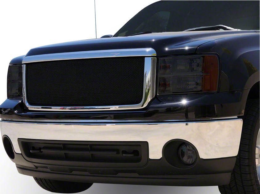 T-REX Sport Series Upper Overlay Mesh Grille w/o Logo Insert - Black (07-13 Sierra 1500)