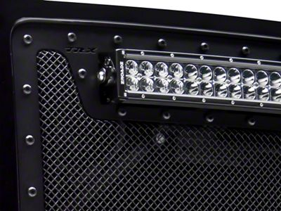T-REX Stealth Metal Series Upper Grille Insert w/ 30 in. LED Light Bar - Black (14-15 Sierra 1500)