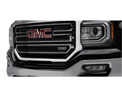 T-REX Upper Class Series Upper Overlay Grilles - Black (16-18 Sierra 1500 Base, SLE)
