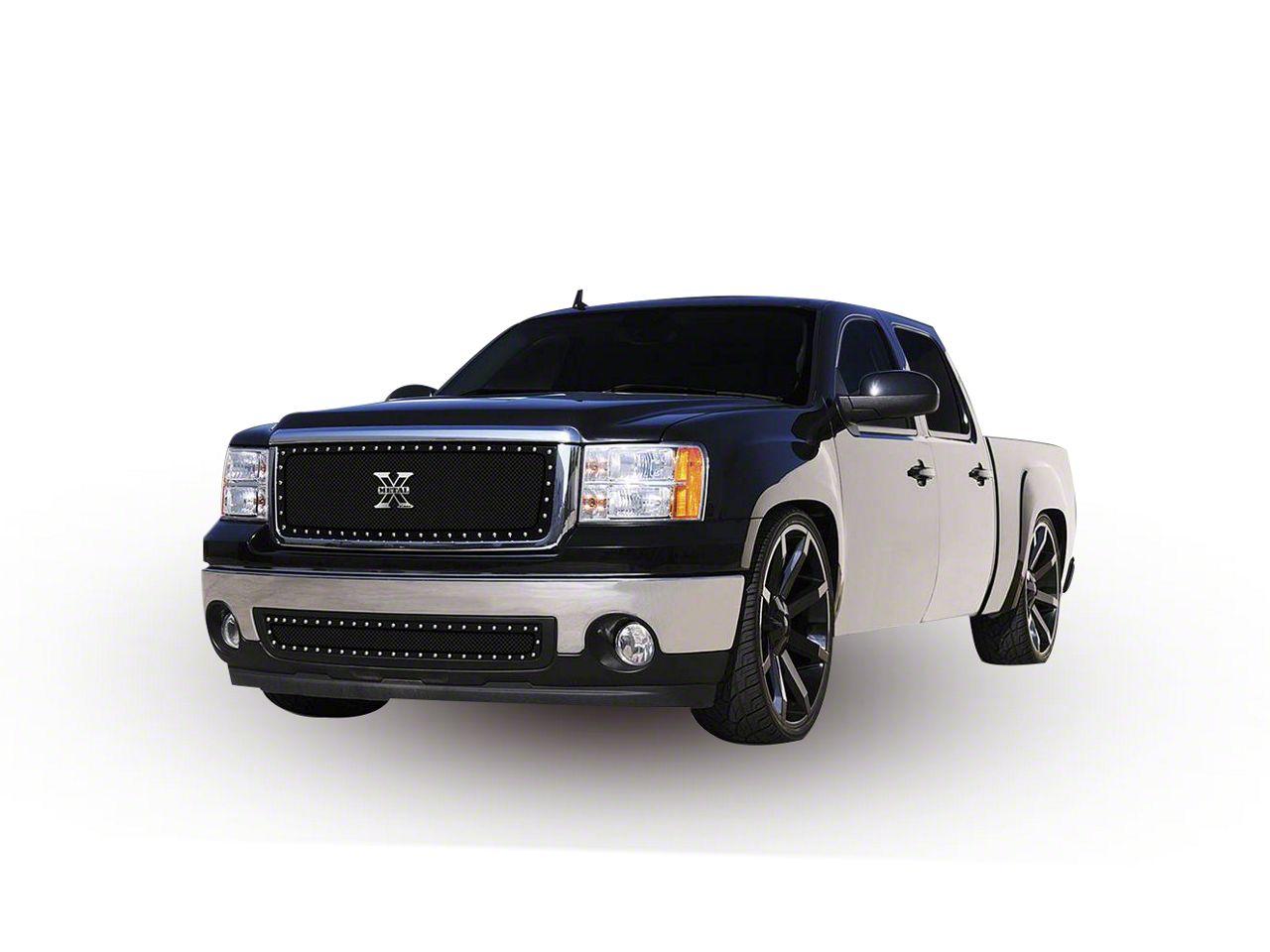 T-REX X-Metal Series Upper Grille Insert - Black (07-13 Sierra 1500)