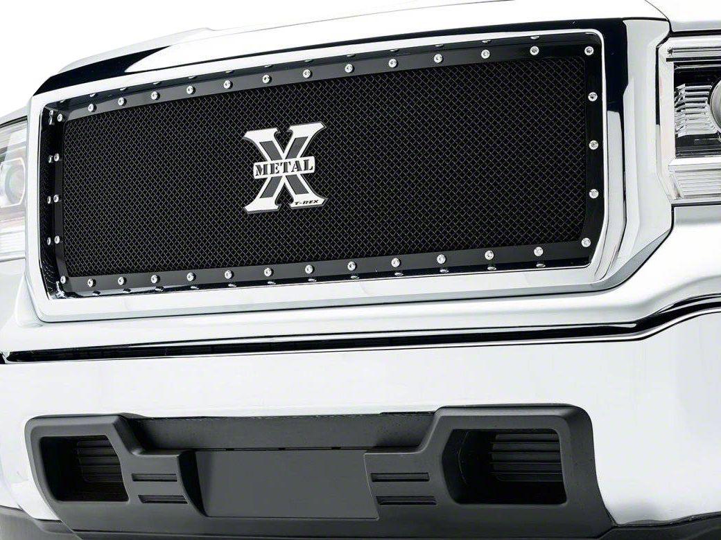 T-REX X-Metal Series Upper Grille Insert - Black (14-15 Sierra 1500)