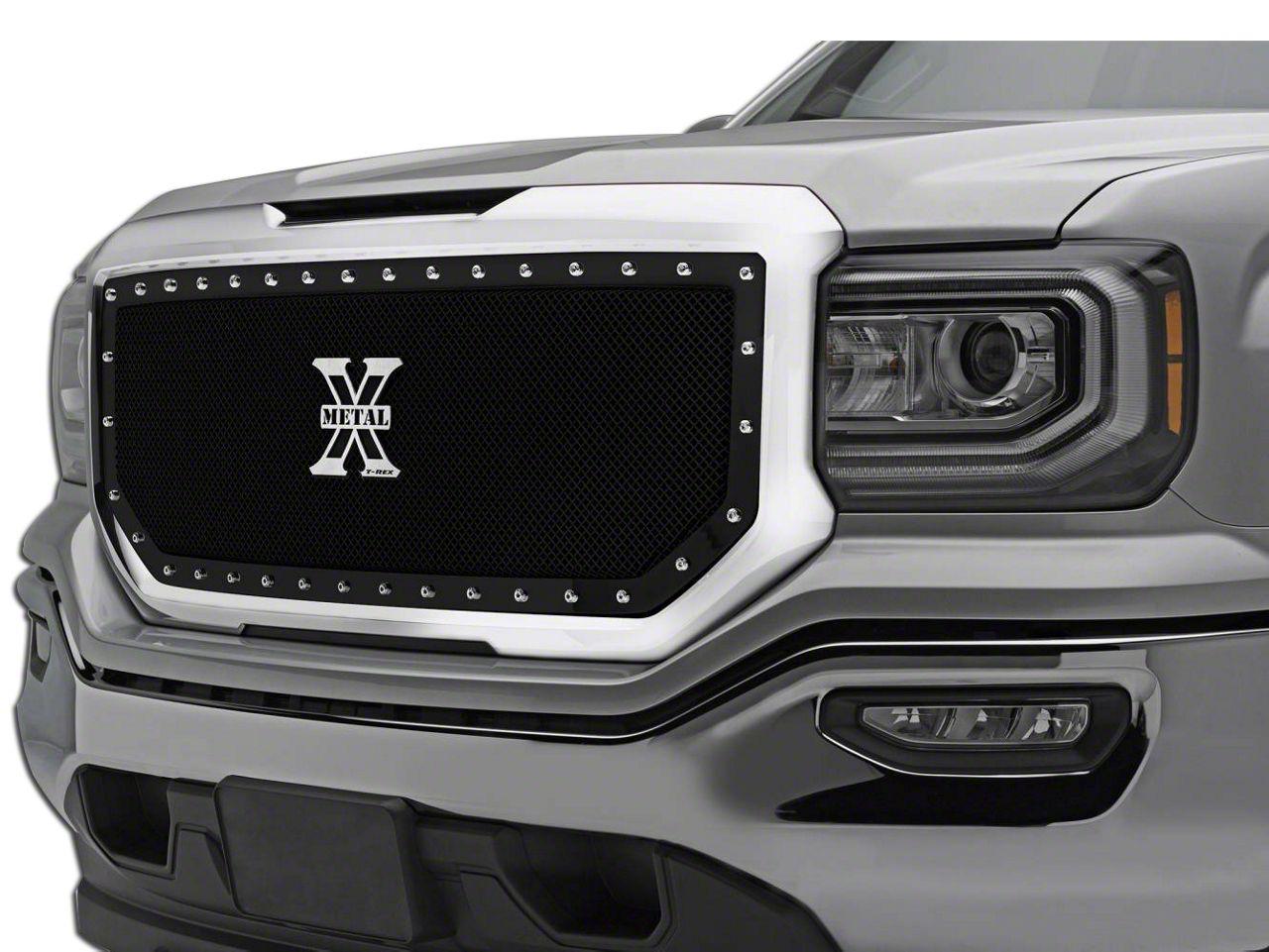 T-REX X-Metal Series Upper Grille Insert - Black (16-18 Sierra 1500)