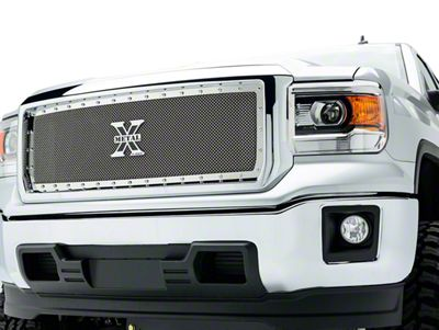 T-REX X-Metal Series Upper Grille Insert - Polished (14-15 Sierra 1500)