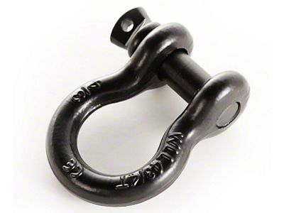 Rugged Ridge 3/4 in. Black 9,500 lb. D-Ring Shackle