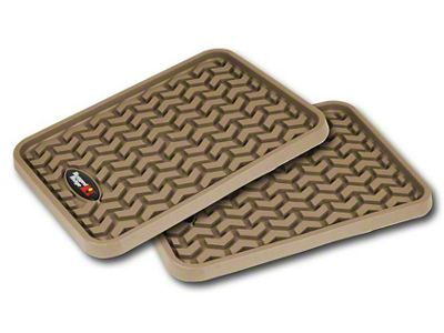 Rugged Ridge Rear Floor Liners - Tan (07-18 Sierra 1500 Extended/Double Cab, Crew Cab)
