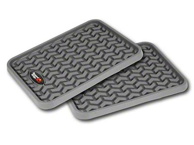 Rugged Ridge Rear Floor Liners - Gray (07-18 Sierra 1500 Extended/Double Cab, Crew Cab)