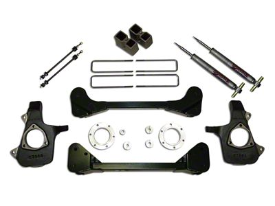 SkyJacker 3.5-4 in. Standard Suspension Lift Kit w/ Shocks (07-13 4WD Sierra 1500)