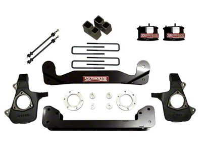 SkyJacker 4 in. Standard Suspension Lift Kit w/ Shocks (14-18 4WD Sierra 1500, Excluding Denali)