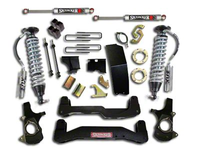 SkyJacker 6.7 in. LeDuc Series Suspension Lift Kit w/ Fox Coil-Over Shocks (14-18 4WD Sierra 1500, Excluding Denali)