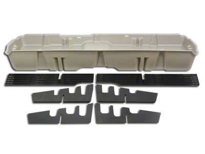 Underseat Storage - Light Gray (07-13 Sierra 1500 Extended Cab, Crew Cab)