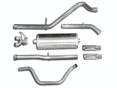 dB Performance by Corsa 3 in. Sport Dual Exhaust System w/ Polished Tips - Rear Exit (07-13 6.2L Sierra 1500)