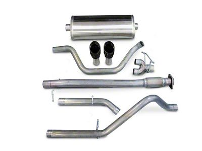Corsa 3 in. Sport Dual Exhaust System w/ Black Tips - Rear Exit (07-08 5.3L Sierra 1500)